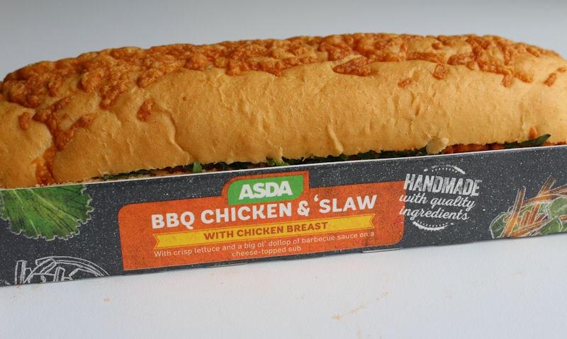 Asda BBQ Chicken & Slaw Sub Review