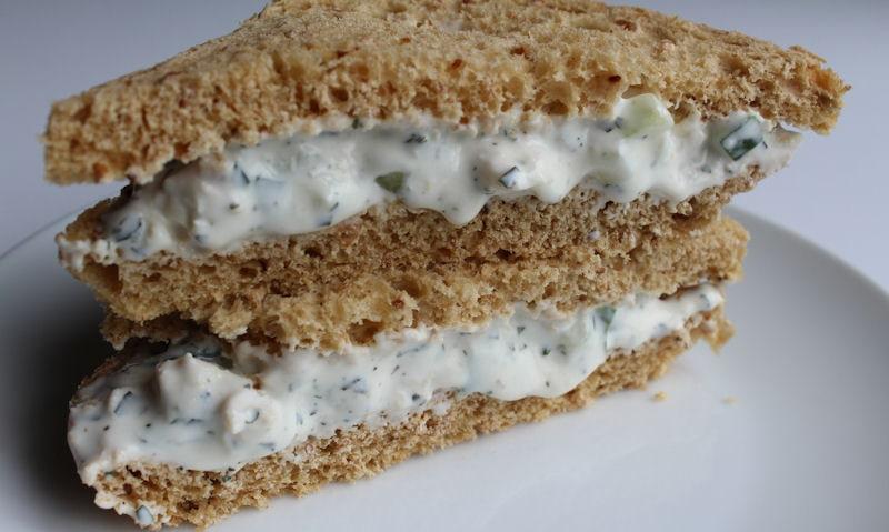 Asda Tzatziki Chicken sandwich in wholemeal bread