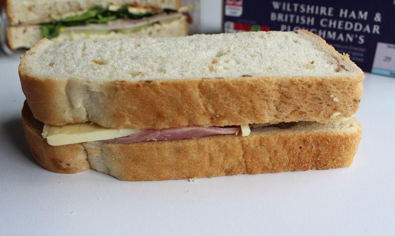 ASDA Wiltshire Ham & British Cheddar Ploughman, crust side