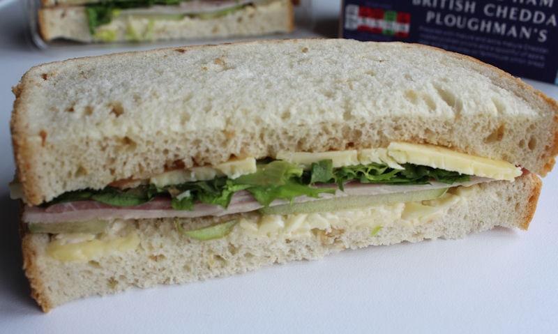 ASDA Wiltshire Ham & British Cheddar Ploughman, single slice