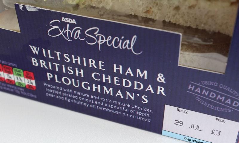 ASDA Wiltshire Ham & Cheddar Ploughman's Sandwich