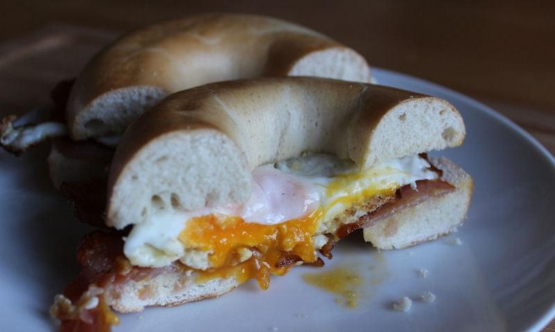 Bacon & Egg Bagel Recipe