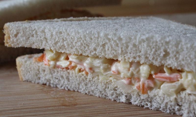 Cheese & Coleslaw Sandwich Recipe