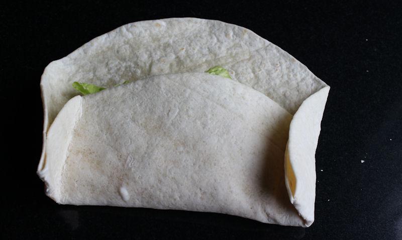 Tucked in tortilla edges