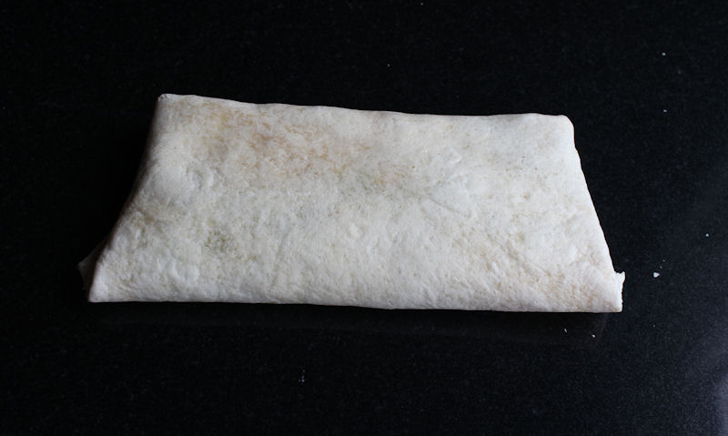 Finished tortilla wrap parcel