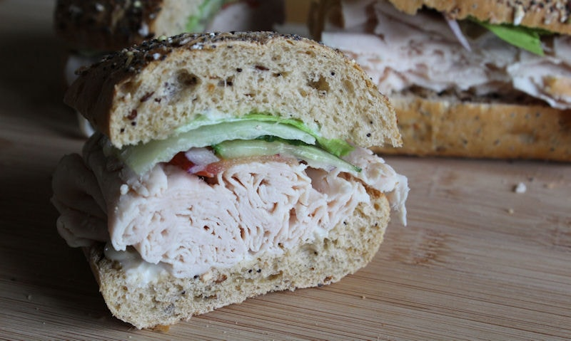 Chicken Salad Seed Topped Malted Roll Recipe