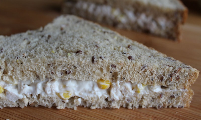 Chicken & Sweetcorn Sandwich Recipe