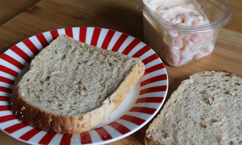 Tesco Prawn Cocktail Sandwich, wholemeal bread