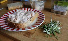 Tesco Prawn Cocktail Sandwich, salad cress
