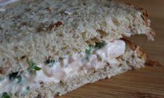 Tesco Prawn Cocktail Sandwich, slices