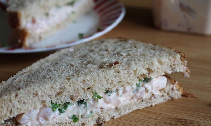 Tesco Prawn Cocktail Sandwich