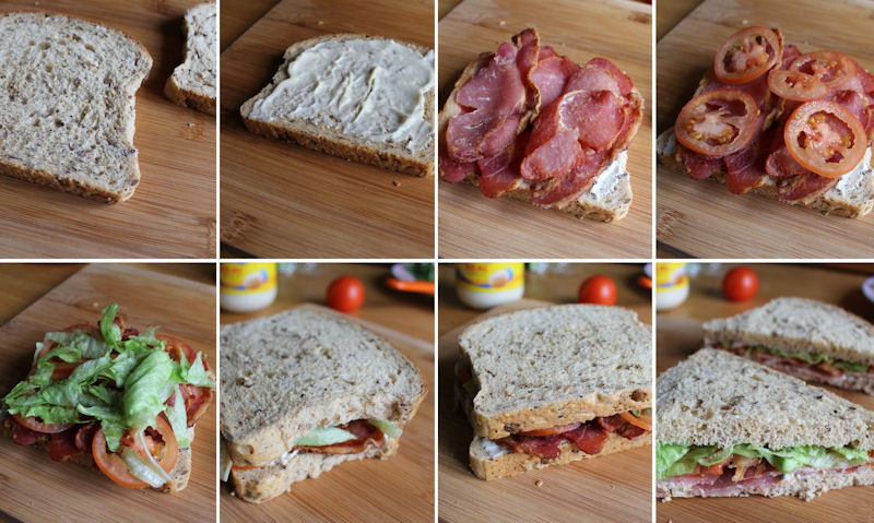 how to make BLT sandwich in pictures