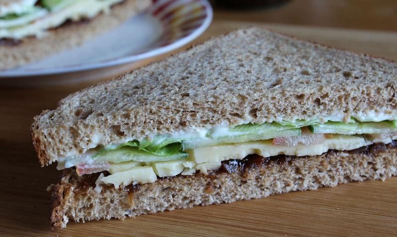 Cheese Ploughman's Sandwich Recipe