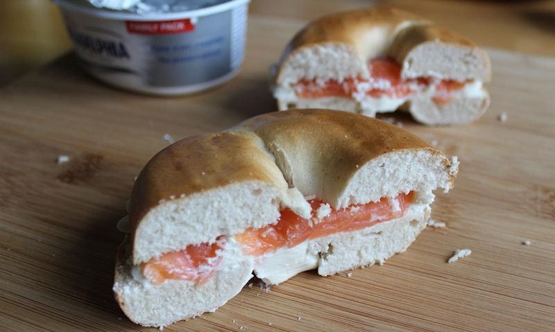 Salmon & Cream Cheese Bagel Recipe