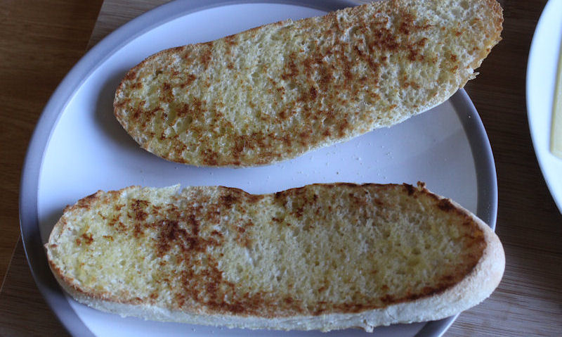 Toasted and sealed sub rolls