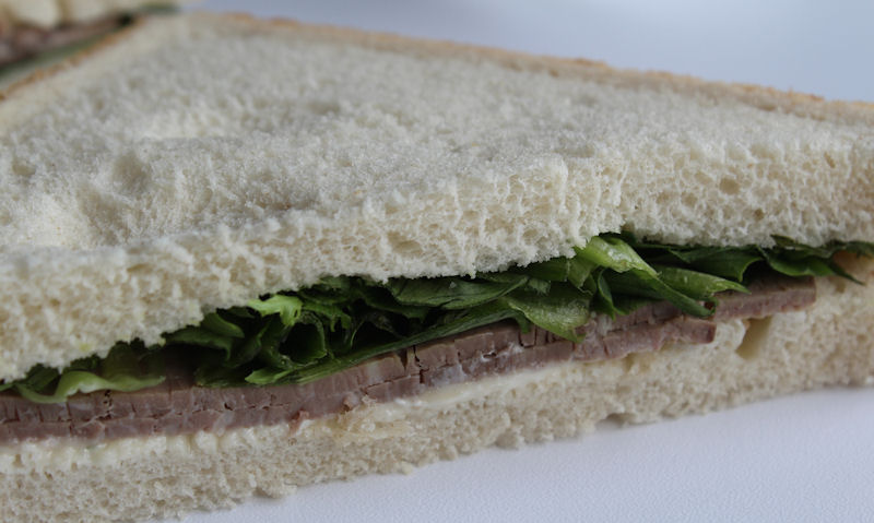 Tesco beef and horseradish closeup shot