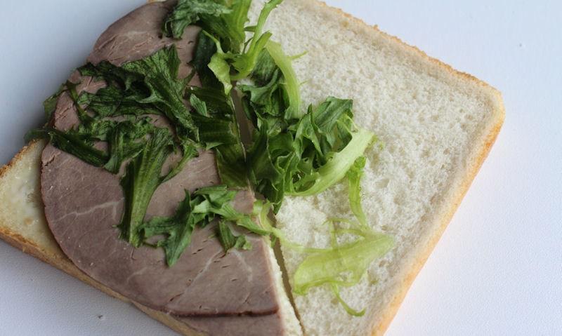 Tesco Beef & Horseradish Sandwich, filling