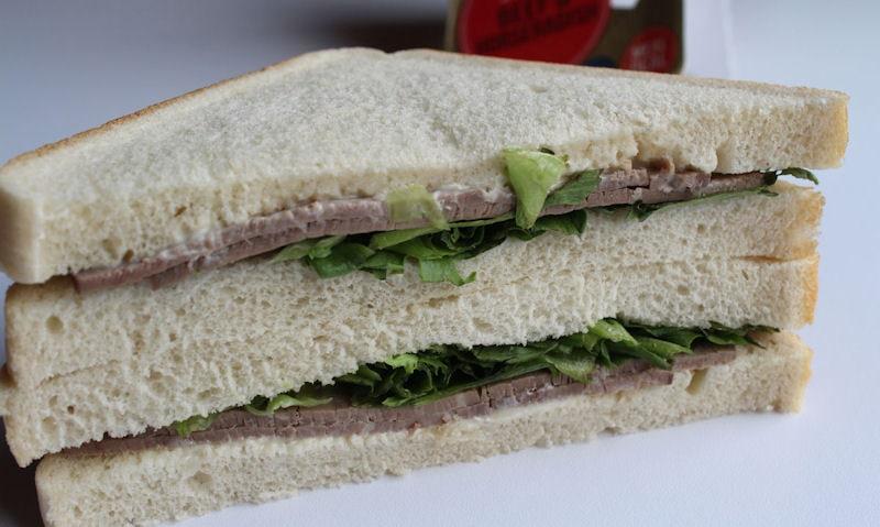 Tesco Beef & Horseradish Sandwich, pile