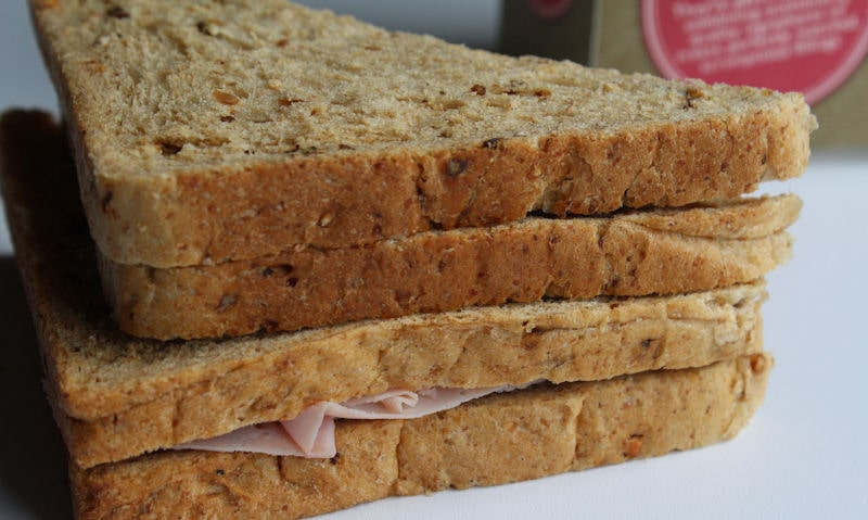 Tesco smoked ham and cheddar sandwich outer crust