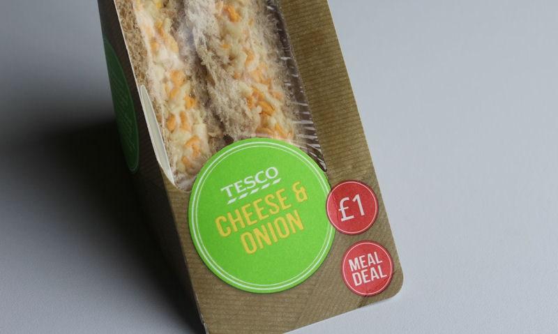 Tesco Cheese & Onion Sandwich Review