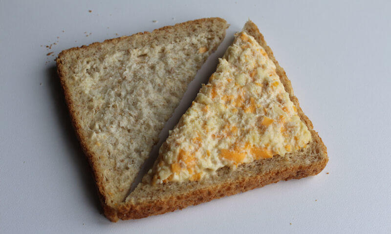 Tesco Cheese & Onion Sandwich, ingredients
