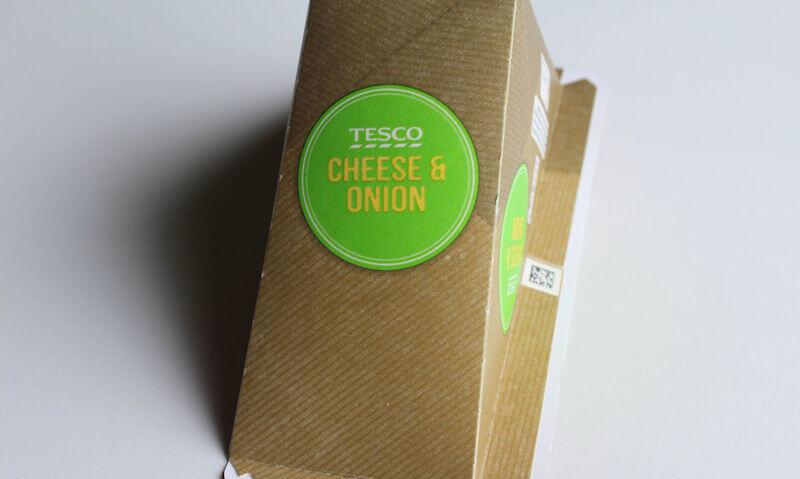 Tesco Cheese & Onion Sandwich, packaging