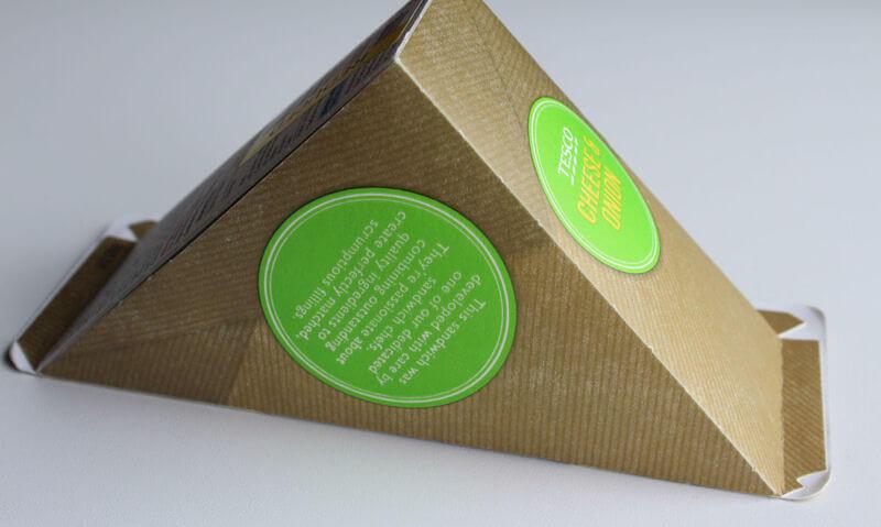 Tesco Cheese & Onion Sandwich, packet