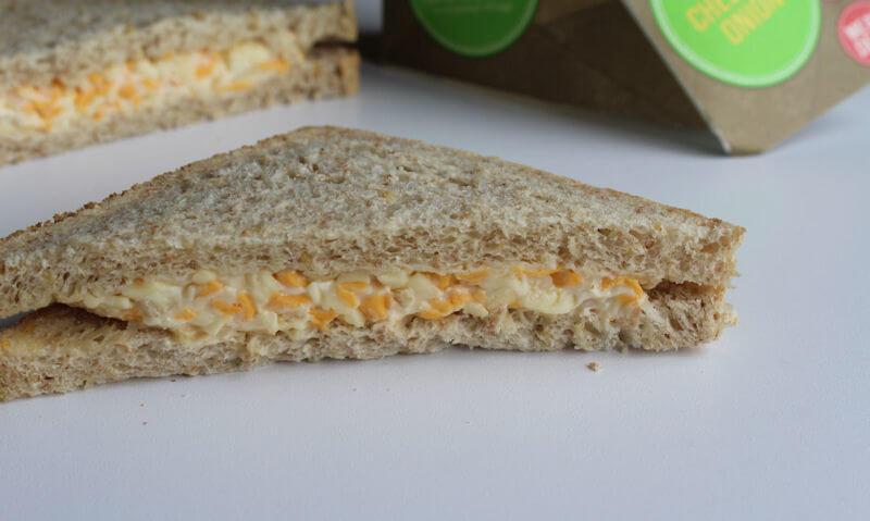 Tesco Cheese & Onion Sandwich, single slice