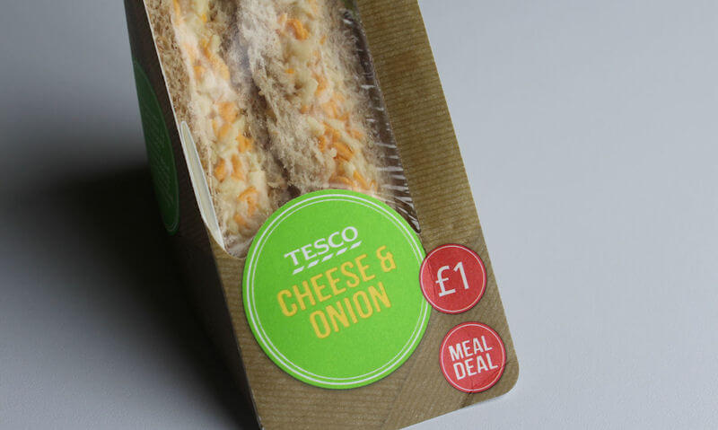 Tesco Cheese & Onion Sandwich