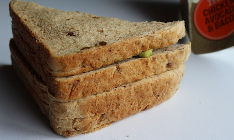 Back view of the Tesco avocado sandwich