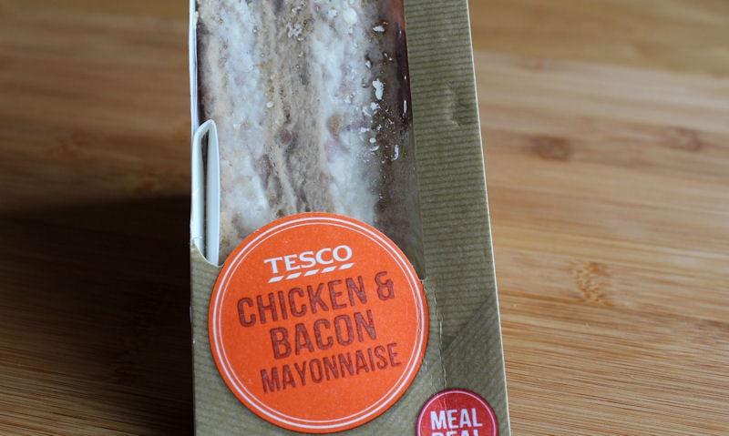 Tesco Chicken & Bacon Mayonnaise Sandwich Review