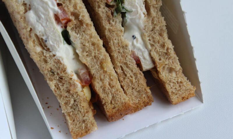 Tesco Chicken Salad Sandwich, crusts seen on bottom