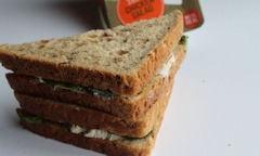 Tesco Chicken Salad Sandwich empty crust