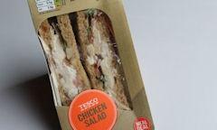 Tesco Chicken Salad Sandwich, packaging