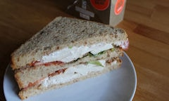 Tesco Chicken Salad Sandwich, plated up