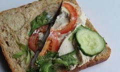 Tesco Chicken Salad Sandwich, salad