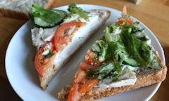 Tesco Chicken Salad Sandwich, tomato filling