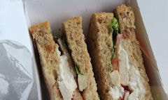 Chicken Salad Sandwich, salad seen on top