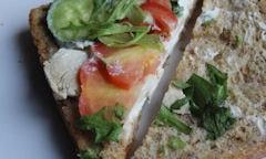Tesco Chicken Salad Sandwich, zoom shot