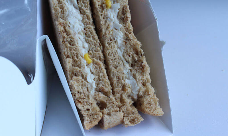 Tesco Chicken & Sweetcorn Sandwich display