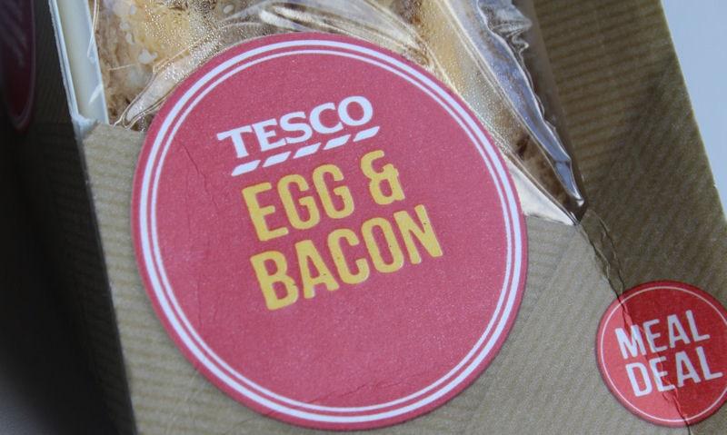 Tesco Egg & Bacon Sandwich