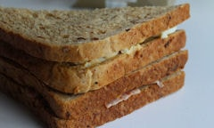 Tesco Egg & Bacon Sandwich, rear view