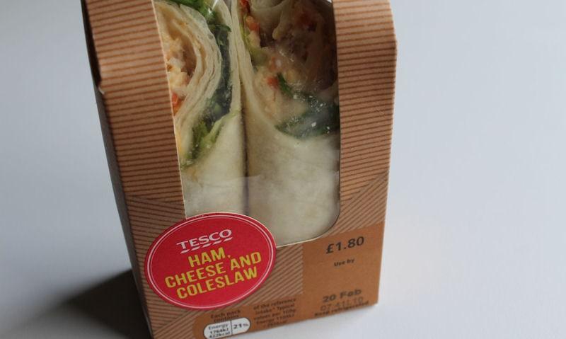 Tesco Ham, Cheese & Coleslaw Wrap Review