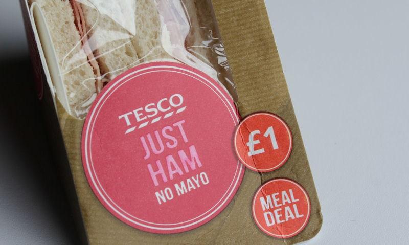 Tesco Just Ham (No Mayo) Sandwich Review