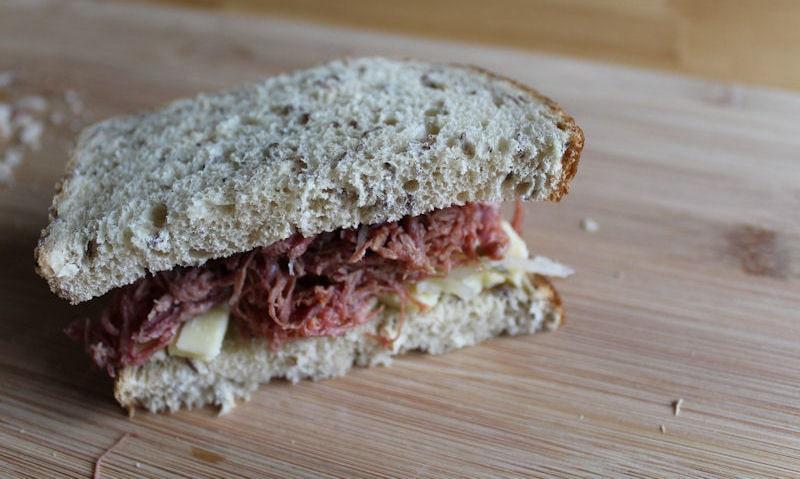 Tesco New York inspired salt beef sandwich