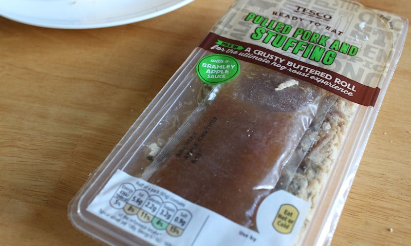 Tesco Ready to Eat Pulled Pork, Stuffing Sandwich Review