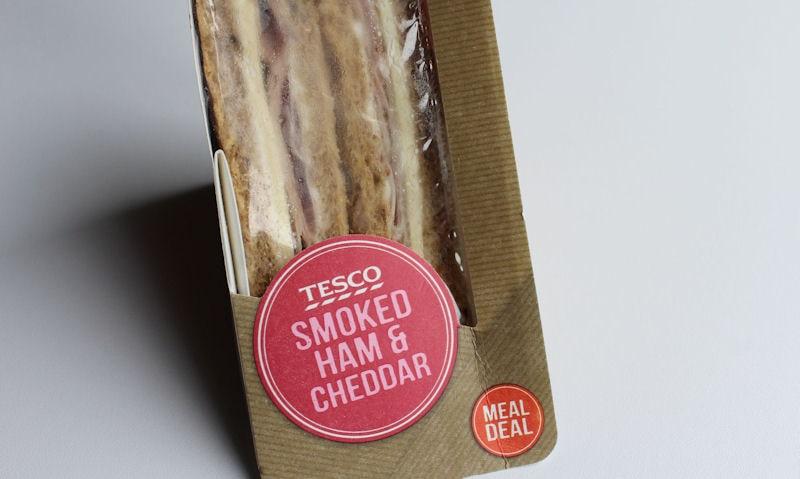 Tesco Smoked Ham & Cheddar Sandwich