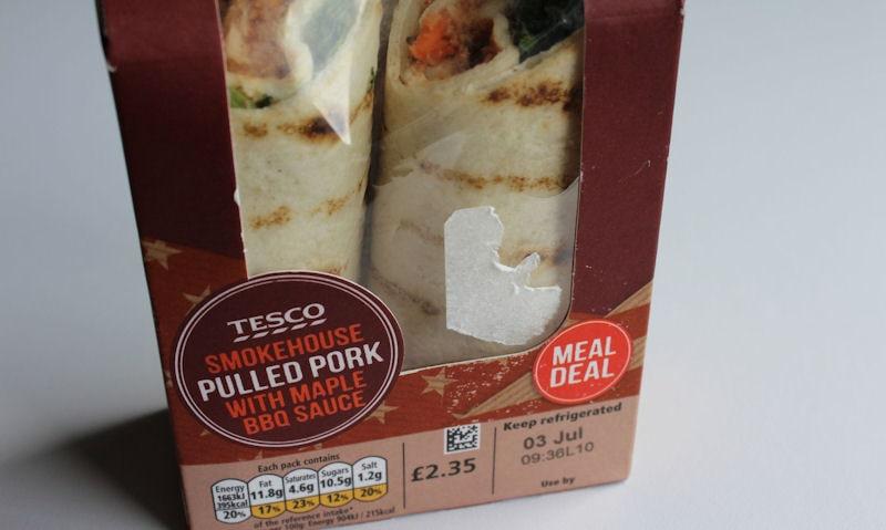 Tesco Smokehouse Pulled Pork, BBQ Wrap Review