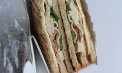 Tesco The Chicken Club Sandwich, opened up packaging