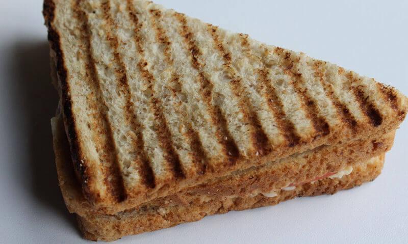 The Chicken Club Sandwich, grill marks